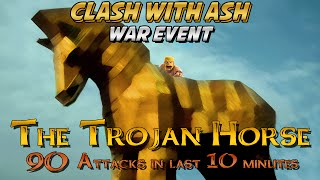getlinkyoutube.com-Clash Of Clans | Trojan Horse Clan War Event | ALL 90 Attacks in LAST 10 Minutes