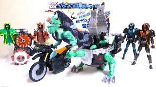 getlinkyoutube.com-【仮面ライダーゴースト】全長405mm !! 合体霊獣 DXイグアナゴーストライカー ヲタファの変形合体 レビュー Kamen Rider Ghost DX Iguana Ghostriker