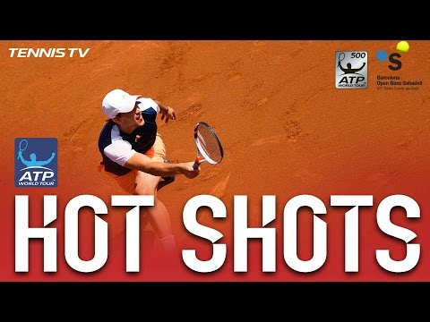 Thiem Fires Forehand Hot Shot Barcelona 2017