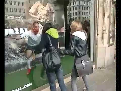 Franck Ribery Scares people on Sports Shop
