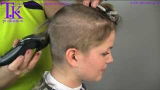 getlinkyoutube.com-I love to go ultra short! clipper haircut of Jacky by Theo Knoop