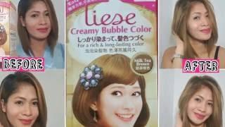 getlinkyoutube.com-EASY DIY HAIR COLOR / LIESE CREAMY BUBBLE COLOR