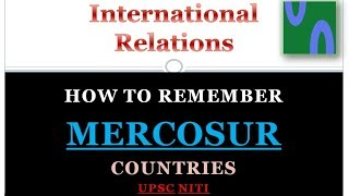 HINDI, HOW TO REMEMBER MERCOSUR COUNTRIES, IR, WORLD GEOGRAPHY TRICK, GS1, GS2. UPSC GS