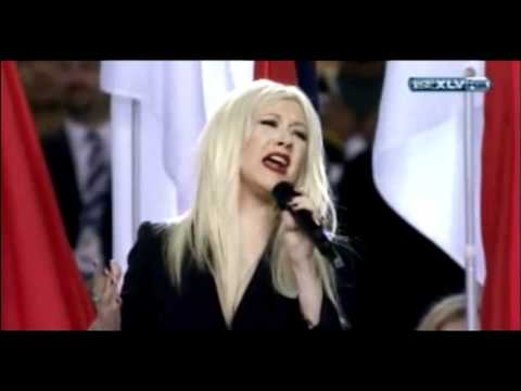 Christina Aguilera Sings National Anthem at Super Bowl XLV