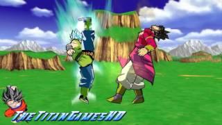 getlinkyoutube.com-Dragon Ball Z Shin Budokai 2 - Fukkatsu No F - Goku AF Ssj God Vs Broly Ssj 4 AF