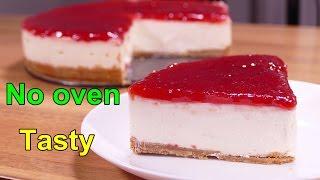 getlinkyoutube.com-TASTY NO BAKE NEW YORK CHEESECAKE | Easy dessert recipes for dinner to make at home
