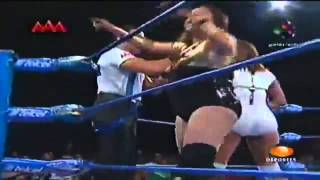 getlinkyoutube.com-Mickie James & Sexy Star vs. Faby & Mari Apache