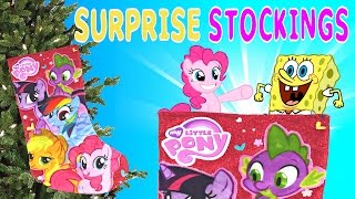 getlinkyoutube.com-My Little Pony SURPRISE TOY STOCKING Hello Kitty Spongebob Sofia Princess Palace Pets Monster High