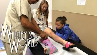 getlinkyoutube.com-Whitney gets her Cast Cut Off | Whitney