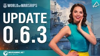 World of Warships - 0.6.3-as Frissítés