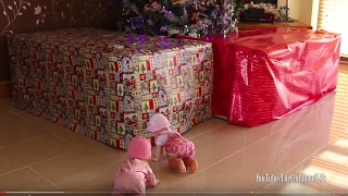 getlinkyoutube.com-Baby Annabell and Giggles Wiggles Crawling Baby Doll Got Giant Presents! Baby Doll Pink & Black Cars