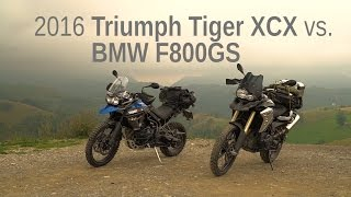 getlinkyoutube.com-2016 Triumph Tiger XCX vs. BMW F800GS | Comparison Test Ride Review