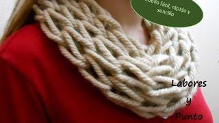 getlinkyoutube.com-Como tejer cuello rápidamente en dos agujas