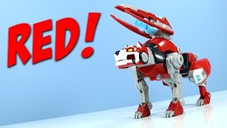 getlinkyoutube.com-Dreamworks Voltron Legendary Defender Giant Red Lion Combine!