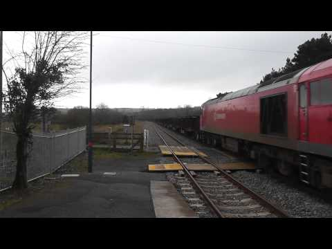 60001 through Llangennech on 6B03 Trostre to Margam Steel train 08/03/2014