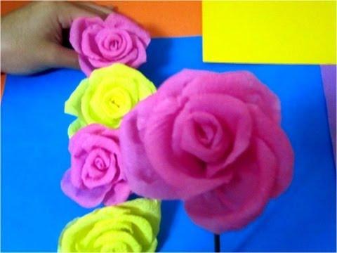 Manualidades guirnalda de rosas