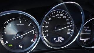 getlinkyoutube.com-Mazda CX-5 acceleration / 0-100 / 0-200 / top speed test [HD]