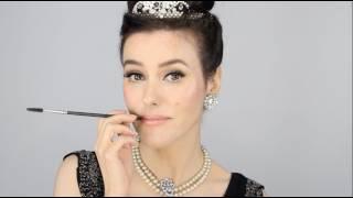 getlinkyoutube.com-Audrey Hepburn - Breakfast at Tiffany's Inspired Makeup Tutorial