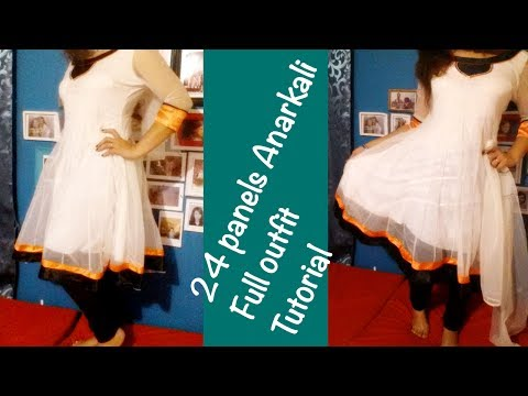 ♥ 24 Panels Anarkali ♥ Full outfit Tutorial ☁