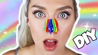 getlinkyoutube.com-DIY RAINBOW BLACK HEAD NOSE PEEL   EASY AND SATISFYING