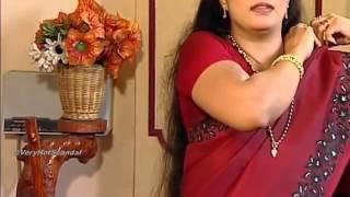 Mallu serial actress hot shows in saree