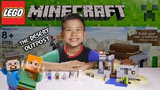 getlinkyoutube.com-THE DESERT OUTPOST - LEGO MINECRAFT Set 21121 - Unboxing, Review, Time-Lapse Build