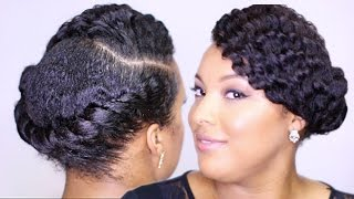 getlinkyoutube.com-Sleek FLAT TWIST Updo || Easy Everyday Protective Style