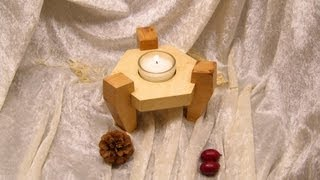 Easy to build Tealight Candle Holder