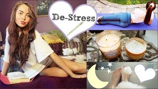 getlinkyoutube.com-My De-Stress Tips & Pamper SKINCARE Routine ❤︎
