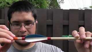 getlinkyoutube.com-Making and Shooting a Four Fletch Dowel Arrow