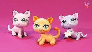 getlinkyoutube.com-LPS shorthair cat KOTEK - tutorial polymer clay - z modeliny