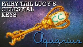 getlinkyoutube.com-Aquarius |  How to Make: Lucy's Celestial Key (Gate Key) from Fairy Tail | Polymer Clay