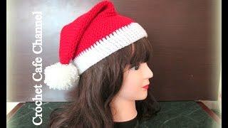 getlinkyoutube.com-كروشيه طاقية بابا نويل|قناة كروشيه كافيه|Crochet Cafe Channel