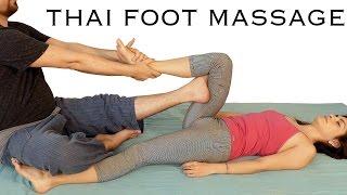 getlinkyoutube.com-Foot & Leg Massage Tutorial, Thai Body Work, How to, Spa Techniques, Relaxing Music, HD 60 fps