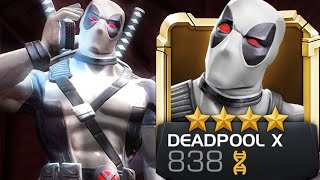 getlinkyoutube.com-Marvel: Contest of Champions - X-Force DEADPOOL (White) Super Moves & Attacks Review
