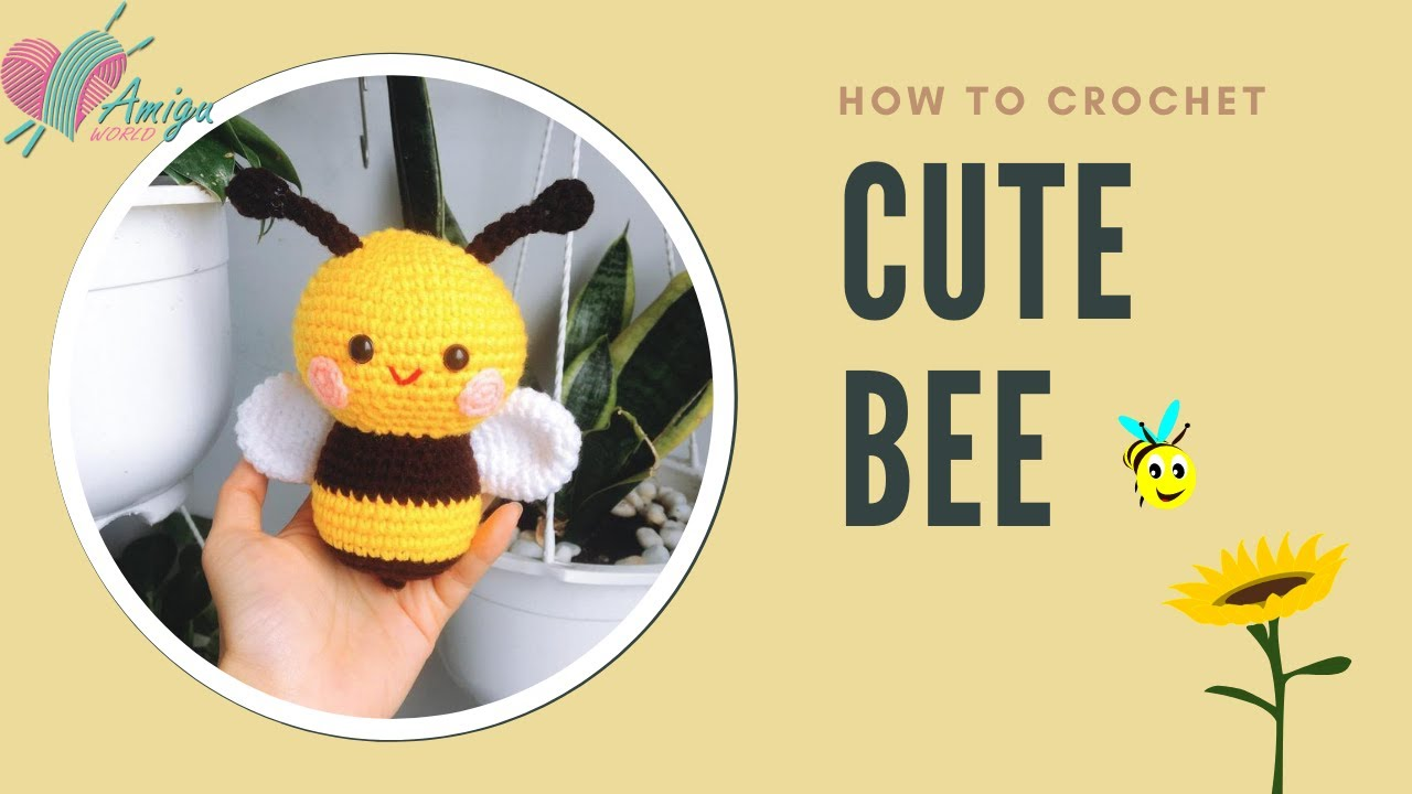 FREE Pattern – How to crochet a cute BEE