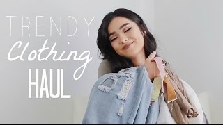 TRENDY CLOTHING HAUL! ft. YOINS & ROMWE | Faye Claire