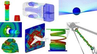 17 exemples de simulations numériques par éléments finis (Abaqus)