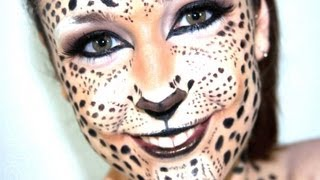 getlinkyoutube.com-Maquillaje | Fantasía de Leopardo
