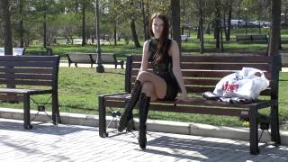 getlinkyoutube.com-Ballet Heels - Markissa in her ballet boots & latex corset Full HD