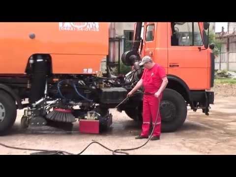 Balayeuse Bucher-Schörling Cityfant 6000 en Ukraine / Street Sweeper, Kehrmaschine, Zamiatarka