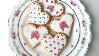 getlinkyoutube.com-How To Decorate Rose Cookies For Valentine's Day!