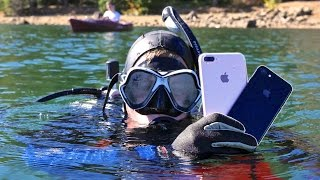 getlinkyoutube.com-Scuba Diving With iPhone 7! How Deep Without a Case?