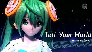 getlinkyoutube.com-[60fps Full風] Tell Your World -Hatsune Miku 初音ミク Project DIVA Arcade English lyrics Romaji subtitles