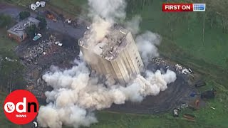 getlinkyoutube.com-A giant building implosion in Australia goes wrong