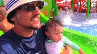 getlinkyoutube.com-SPONGEBOB WATER PARK! (Nickelodeon Resort Hotel Punta Cana Beach Part 2 w/ FUNnel Vision Family Fun)
