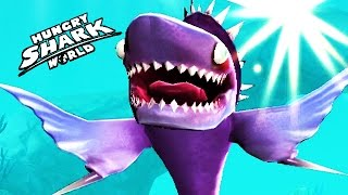 getlinkyoutube.com-Hungry Shark World - New Max Level 10/10 Stethacanthus Spike