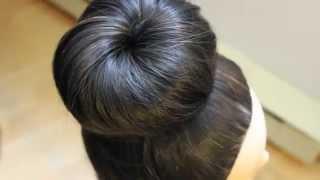 أسهل طريقة لعمل تسريحة الدونت |  كعكة الشعر المرفوعة من الجوارب | في 30 ثانية