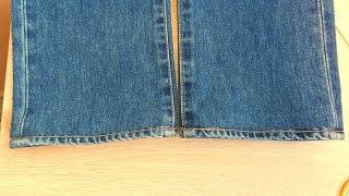getlinkyoutube.com-Как укоротить джинсы с сохранением фирменной строчки