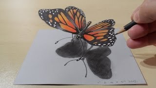 3D Drawing a Butterfly, Magical Art